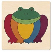 Hape George Luck Rainbow Frog Wood Puzzle (8 Piece)