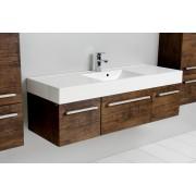 Antado Spektra szafka z umywalką, wisząca 140 stare drewno 675490/636804