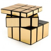 Puzzle Magic Mirror Rubik Cube-Golden Plastic