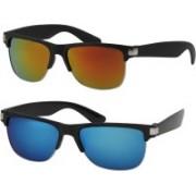 Fashno Wayfarer Sunglasses(Brown, Blue)