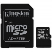 Kingston microSDHC Canvas Select 80R CL10 UHS-I Card+SD, 16GB