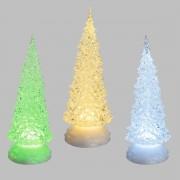 Luci Da Esterno Albero Glitter h 32 cm, LED multicolore RGB con effetto scintillante