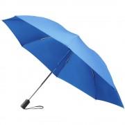 Umbrela 23 inch cu deschidere automata, pliabila, 3 sectiuni, Everestus, pongee poliester, albastru, saculet de calatorie inclus