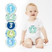 Pearhed Baby Milestone stikeri - plavi