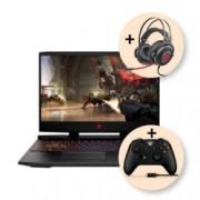 "Лаптоп HP Omen 15-dc0086nu (4PS85EA), с подарък HP Omen 800 и Xbox One Wired, шестядрен Intel Core i7-8750H 2.2/4.1 GHz, 15.6"" (39.62 cm) FHD 144 Hz IPS дисплей & GF GTX 1060 6GB (mDP), 16GB DDR4, 1TB HDD & 256GB SSD, 1x Thunderbolt, 2.45 kg"