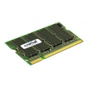 Crucial - DDR - 1 Go - SO DIMM 200 broches - 400 MHz / PC3200 - CL3 - 2.5 V - mémoire sans tampon - non ECC