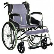 Scaun cu rotile din otel cu antrenare manuala pliabil argintiu ANTAR AT52301