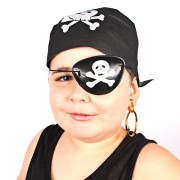 Kit Com 25 Kits Pirata ( Bandana, Tapa Olho E Brinco )