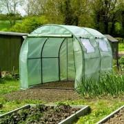 Versterkte groene folie voor tunnelserre