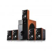 Boxe SoundBoost HT5100C, 5.1, 140W RMS, Lemn culoare cires