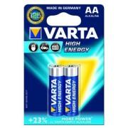 Baterii AA, alcaline, 2 bucati, VARTA High Energy