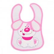 Bavetica impermeabila cu scai Baby Bib Little Puppy Pink