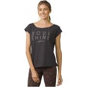 Prana Doamnelor t-shirt Longline Tee Charcoal Heather S