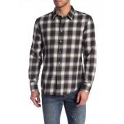 John Varvatos Star USA Plaid Trim Fit Shirt TENT GREEN