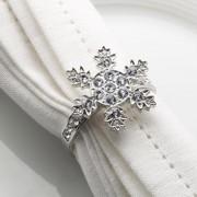 Portatovaglioli fiocco di neve 4 pezzi