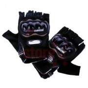 Pro biker Half Finger Gloves -Bike/Motorcycle/Cycle Riding Gloves-Biker Gloves