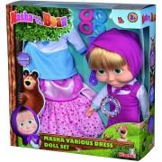 Simba Masha and the Bear Doll Set con ropa