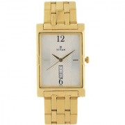 Titan Quartz White Rectangle Men Watch 1641YM01