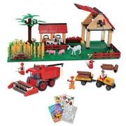 BRICTEK Farm 8 in 1 Building Blocks Set 836pcs (Compatible with Legos) BT-11805 with Coloring Book