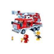Blocos de Montar Banbao Kit Caminhão de Incêndio dos Bombeiros - 290 Peças