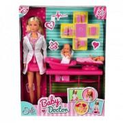 SIMBA Steffi lutka set doktorka sa bebom - SB2608