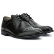 Clarks SWINLEY LACE BLACK LEATHER Lace Up For Men(Black)