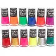 Makeup Mania Exclusive Nail Kit Polish (Multicolor Set of 12)