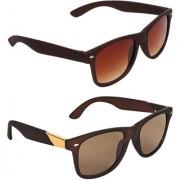 Zyaden Brown Wayfarer UV Protection Unisex Sunglasses Combo