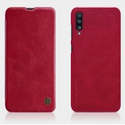 NILLKIN Qin Series Card Holder Leather Protector Cover for Samsung Galaxy A70 - Red