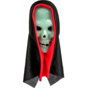 Masca de halloween model craniu glow in the dark alb/negru