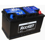 Rocket 80Ah 12V autó akkumulátor AGM L4 jobb+