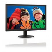 """Philips V-line 223V5LHSB - Monitor LED - 21.5"""" - 1920 x 1080 Full HD (1080p) - 250 cd/m² - 1000:1 - 5 ms - HDMI, VGA - preto te"""