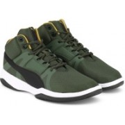 Puma Rebound Street BSK IDP Mid Ankle Sneakers For Men(Olive)
