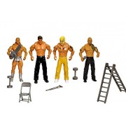 Decor Express WWE Action Figure Toy Set, Set of 4 Figures and 6 Accessories