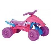 POCO DIVO Pink Ride-on ATV Low-seat Toddler Indoor/Outdoor Scooter Princess Riding Toy Girls Motorcycle