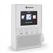 "Auna Digi Plug, бяло, интернет радио за контакт, 2,4"" TFT, управление чрез апликация, WLAN (KC6-Digi Plug WH)"