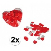 Geen Rode hartjes bad confetti 40 gram