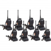 Pack 8 Walkie Talkie UHF Baofeng BF-888S Radio Portatil