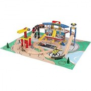 Kidkraft Transportation Station Train Set with Roll-Up Felt Play Mat - 2016 Exclusive Edition