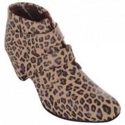 Exotique Women's Leopord Print Casual Boots (EL0032BR)