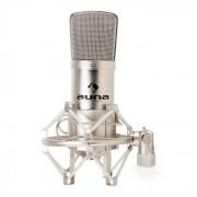 Auna CM001S Micrófono condensador de estudio XLR plateado