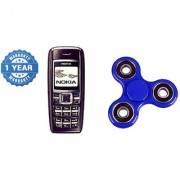 Refurbished Nokia 1600 Black And Get Spinner (1 Year Warranty Bazaar Warranty)
