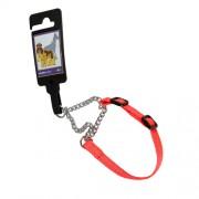 Hundhalsband stryp, justerbart av nylon, orange reflex, 10mm x 20-35cm