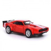 Emob Die Cast Metal Body Red Battery Operated Fast and Furious F8 Luxury Car Toy with Light and Sound (Multicolor)