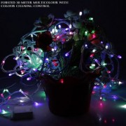 Diwali Decorative 30 Meter forsted (8mm35no./155) String Lights Serial Bulbs - Multi Color
