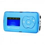"""""""1.1"""""""" reproductor de mp3 OLED con mini USB / TF / 3.5mm - azul + plata"""""""