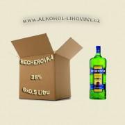 Becherovka kartón 6 x 0,5L 38%