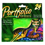 Crayola PortFolio Series Water-Soluble Oil Pastels 24-Color Set (52-3624)