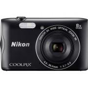 Nikon Digitalkamera Nikon Coolpix A-300 20.1 MPix 8 x Svart