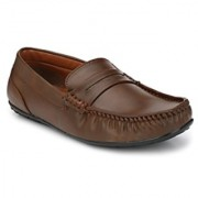 BB LAA 906 Brown Men's Slip on Loafers Shoes